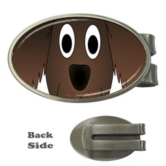 Dog Pup Animal Canine Brown Pet Money Clips (oval)  by Nexatart