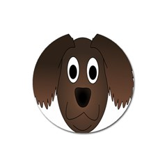 Dog Pup Animal Canine Brown Pet Magnet 3  (round)