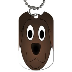 Dog Pup Animal Canine Brown Pet Dog Tag (one Side)