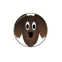 Dog Pup Animal Canine Brown Pet Hat Clip Ball Marker (4 Pack)
