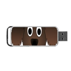 Dog Pup Animal Canine Brown Pet Portable Usb Flash (two Sides) by Nexatart