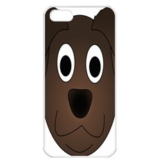 Dog Pup Animal Canine Brown Pet Apple Iphone 5 Seamless Case (white)