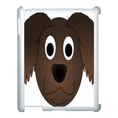 Dog Pup Animal Canine Brown Pet Apple Ipad 3/4 Case (white)