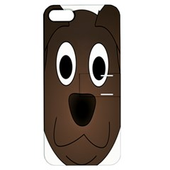 Dog Pup Animal Canine Brown Pet Apple Iphone 5 Hardshell Case With Stand by Nexatart