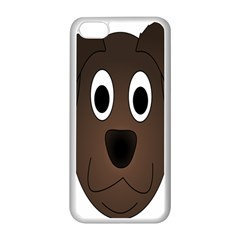 Dog Pup Animal Canine Brown Pet Apple Iphone 5c Seamless Case (white)