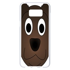 Dog Pup Animal Canine Brown Pet Samsung Galaxy S8 Plus White Seamless Case by Nexatart