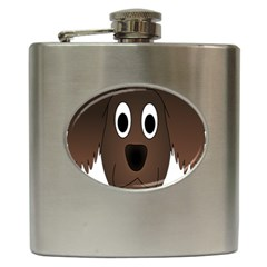 Dog Pup Animal Canine Brown Pet Hip Flask (6 Oz)