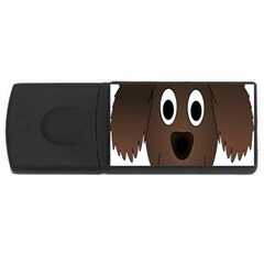 Dog Pup Animal Canine Brown Pet Rectangular Usb Flash Drive by Nexatart