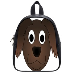 Dog Pup Animal Canine Brown Pet School Bag (small) by Nexatart