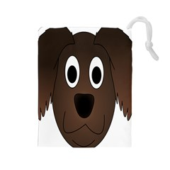 Dog Pup Animal Canine Brown Pet Drawstring Pouches (large)