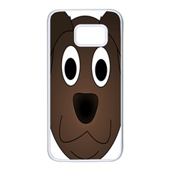 Dog Pup Animal Canine Brown Pet Samsung Galaxy S7 White Seamless Case