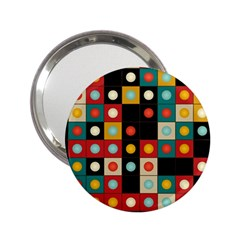 Colors On Black 2 25  Handbag Mirrors by linceazul