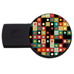 Colors On Black Usb Flash Drive Round (2 Gb) by linceazul