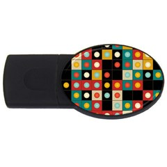 Colors On Black Usb Flash Drive Oval (4 Gb) by linceazul