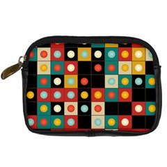Colors On Black Digital Camera Cases by linceazul