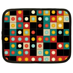 Colors On Black Netbook Case (xl)  by linceazul