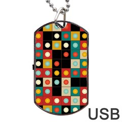 Colors On Black Dog Tag Usb Flash (one Side) by linceazul