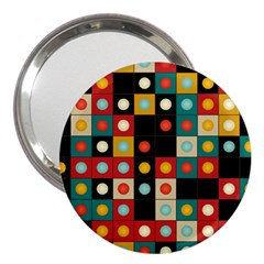 Colors On Black 3  Handbag Mirrors by linceazul