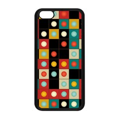 Colors On Black Apple Iphone 5c Seamless Case (black) by linceazul