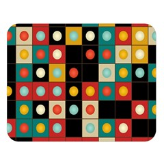 Colors On Black Double Sided Flano Blanket (large)  by linceazul
