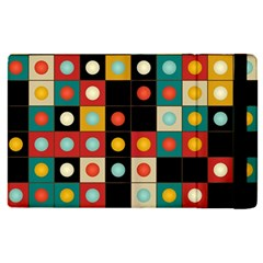 Colors On Black Apple Ipad Pro 12 9   Flip Case by linceazul