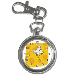 Rat Mouse Cheese Animal Mammal Key Chain Watches by Nexatart