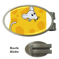 Rat Mouse Cheese Animal Mammal Money Clips (oval)  by Nexatart