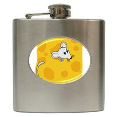 Rat Mouse Cheese Animal Mammal Hip Flask (6 Oz)
