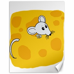 Rat Mouse Cheese Animal Mammal Canvas 12  X 16   by Nexatart