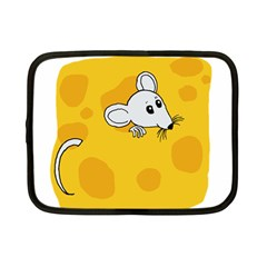 Rat Mouse Cheese Animal Mammal Netbook Case (small)  by Nexatart