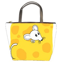 Rat Mouse Cheese Animal Mammal Bucket Bags by Nexatart