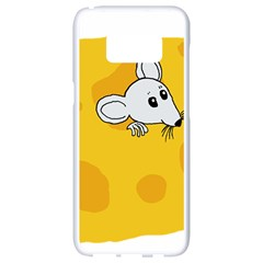 Rat Mouse Cheese Animal Mammal Samsung Galaxy S8 White Seamless Case by Nexatart