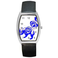 Skunk Animal Still From Barrel Style Metal Watch by Nexatart
