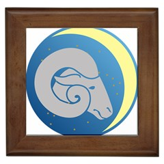 Ram Zodiac Sign Zodiac Moon Star Framed Tiles by Nexatart