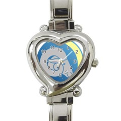 Ram Zodiac Sign Zodiac Moon Star Heart Italian Charm Watch by Nexatart