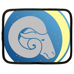 Ram Zodiac Sign Zodiac Moon Star Netbook Case (large) by Nexatart