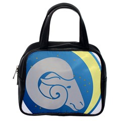 Ram Zodiac Sign Zodiac Moon Star Classic Handbags (one Side)