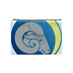 Ram Zodiac Sign Zodiac Moon Star Cosmetic Bag (medium)  by Nexatart