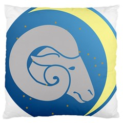 Ram Zodiac Sign Zodiac Moon Star Large Cushion Case (one Side)