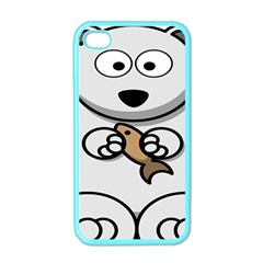 Bear Polar Bear Arctic Fish Mammal Apple Iphone 4 Case (color)
