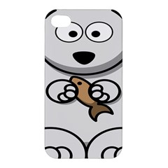 Bear Polar Bear Arctic Fish Mammal Apple Iphone 4/4s Hardshell Case by Nexatart