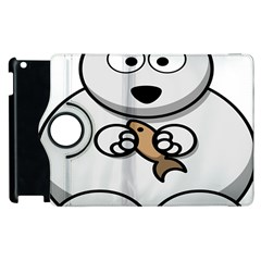 Bear Polar Bear Arctic Fish Mammal Apple Ipad 3/4 Flip 360 Case by Nexatart