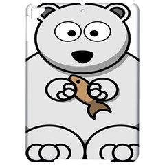 Bear Polar Bear Arctic Fish Mammal Apple Ipad Pro 9 7   Hardshell Case by Nexatart