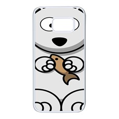 Bear Polar Bear Arctic Fish Mammal Samsung Galaxy S7 White Seamless Case