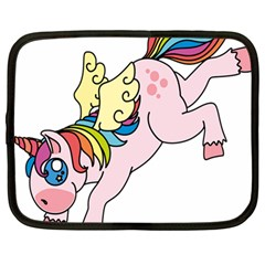 Unicorn Arociris Raimbow Magic Netbook Case (large) by Nexatart