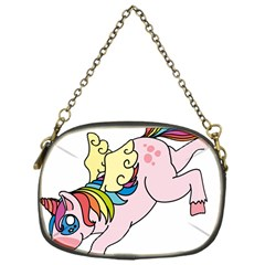 Unicorn Arociris Raimbow Magic Chain Purses (one Side)  by Nexatart