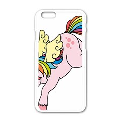 Unicorn Arociris Raimbow Magic Apple Iphone 6/6s White Enamel Case by Nexatart