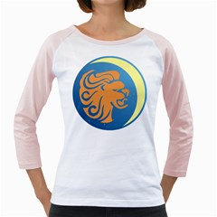 Lion Zodiac Sign Zodiac Moon Star Girly Raglans