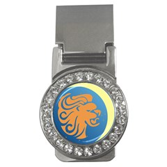 Lion Zodiac Sign Zodiac Moon Star Money Clips (cz)  by Nexatart