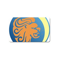 Lion Zodiac Sign Zodiac Moon Star Magnet (name Card)